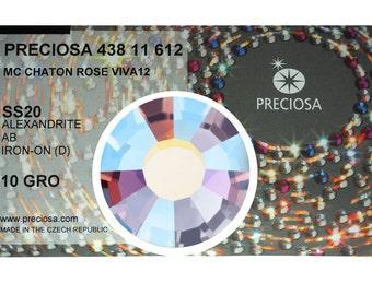 HOTFIX, 1440 Preciosa Genuine Czech Crystals 20ss Alexandrite AB Viva12 Iron-on, ss20, 5mm