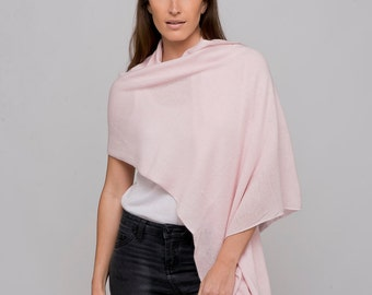Light Pink 100% Cashmere Wrap