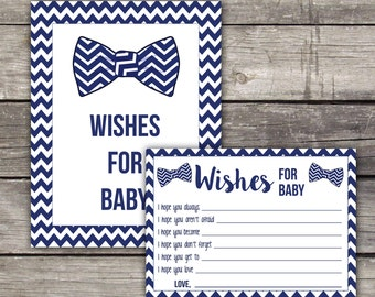 Little Man Baby Shower Wishes for Baby Cards - Baby Wishes -Hipster Baby Shower Game 220