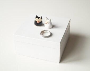 Wedding Ring Box, White Wooden Ring Box, Engagement Ring Box, Wedding Ring Pillow, Jewelry Holder, Wedding Gift