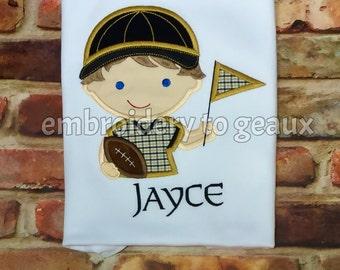 Black and Gold Football Fan T-Shirt or Infant Bodysuit, Boy Football Shirt, Football Shirt for Boys, Football Shirt, Sports Fan Shirt