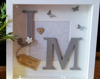 Initial frames ideal for engagements weddings anniversaries or just to say i love you