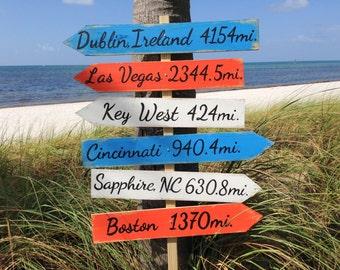 Garden Directional Location Sign, Beach House Decor, Arrow Wooden Sign, Christmas gift idea