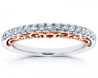 Diamond Band 1/6 CTW In 14k Two-tone Gold