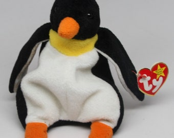 Waddle the Penguin RETIRED TY Beanie Baby Style 4075 - RARE!