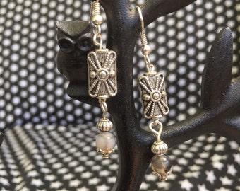 Tibetan Silver ans Gemstone Earrings