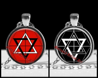 Martinist Order emblem necklace, occult pentacle pendant, esoteric jewelry, occultism, art, magick, ritual amulet, seal, magic symbol #357