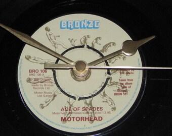 "Motorhead ace of spades 7"" vinyl record clock"
