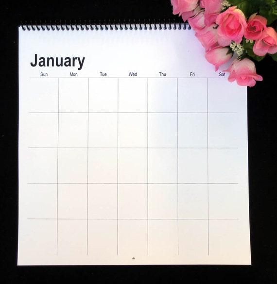 Blank Universal Calendar : Large square blank perpetual wall calendar