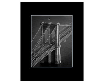 Brooklyn / Brooklyn Bridge / Brooklyn Art - New York Print / New York Art Print - New York City Art / Black and White Photography