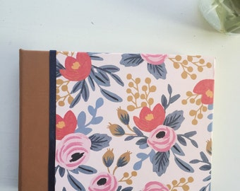 SALE Flower Photo Album, Leather