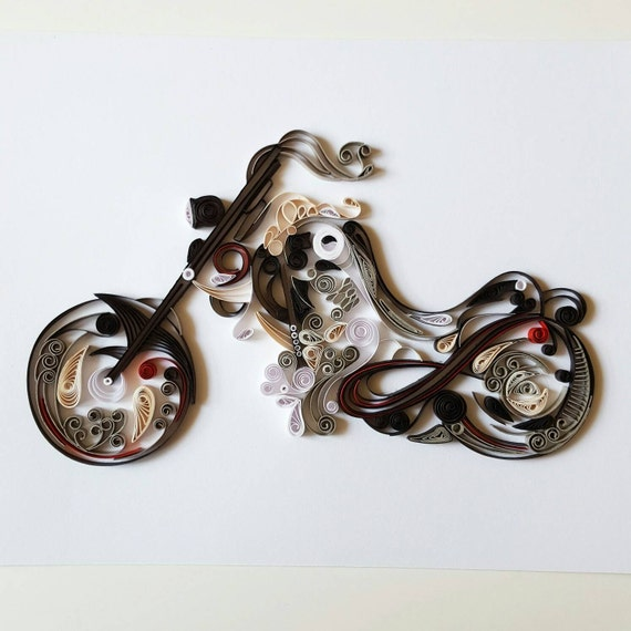 motorcycle craft ideas quilled paper motorcycle handmade artwork 2513