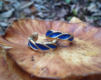 Vintage Monet Blue Earrings NBW