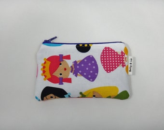 Princess in Pink Wallet, Kids Wallet, Kids Coin Purse, Toddler Wallet, Children's Wallet, Coin Pouch, Girls wallet