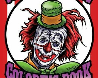 Creepy Clowns Adult Coloring Book!!