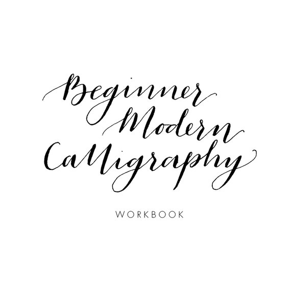 Beginner modern calligraphy practice workbook Calligraphy books free