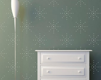 Stars Dots Wall Stencil  Pattern Stencil, in reusable Mylar