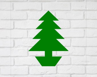 Xmas Tree Wall Decals Stickers -  Bedroom Nursery Wall Large Wall Art