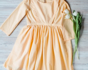 GIRLS Cape Dress - Gathered Child's Cape Dress - Girls Amish Dress Mennonite Dress Girl's Plain Dress Child's Plain Dress Girl's Modest Slip