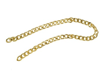 1 feet Chunky Light Gold Purse Chain - 17mm Width, Replacement Chain, Chain Strap, Chunky Curb Chain, Chain Handle with Clasp, Layered Chain