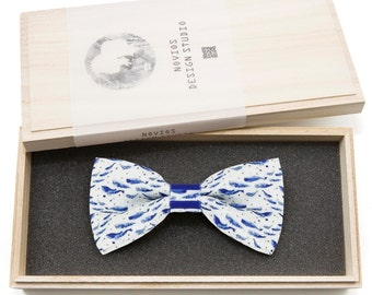 Deep Ocean Bowtie - birthday gift, Toddler Bowtie Toddler Bow tie, Groomsmen bow tie, Pre Tied and AdjustableNovioshk, H0216