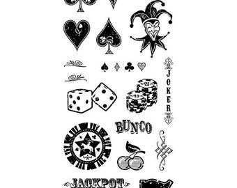 "Inkadinkado ""Games"" - Clear stamps"