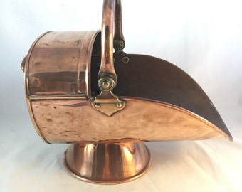 Large Copper Coal Scuttle/Bucket From England