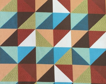 Modern Geometric Cubes - Upholstery Fabric by the Yard