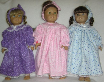 """Night Gown for the 18"""" American Girl Doll"""