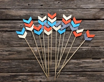 Tribal Party Skewer Stick - Arrows, Wild One Party, Birthday Party, Party Decorations, Tribal Center Piece