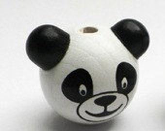 Panda head bead 3D