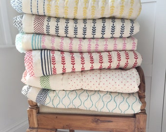 Organic Cotton Baby and Toddler Quilted Blankets