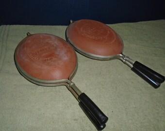 2 Vintage La Bisquera / La Cotta cookware / Italian cookware / La Cotta / La Bisquera / Earthenware /