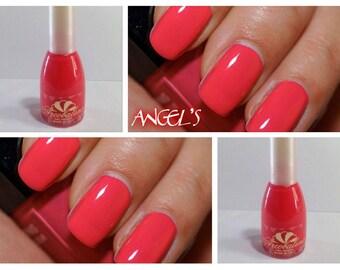 nail polish long lasting RED CORAL