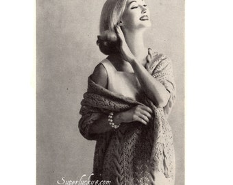 Vintage Stole knitting pattern in PDF instant download version , e-pattern
