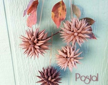 Handcrafted Folkart Ornaments / Paper Decoration / Scandinavian Polish German / Autumn Fall Thanksgiving Christmas