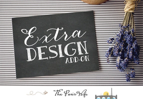 Add-on: additional design option (valid only with purchase of a premade web logo or monogram design package)