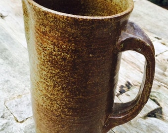 Vintage Stoneware Pitcher, Pottery, Sangria, Water Pitcher,  Rustic