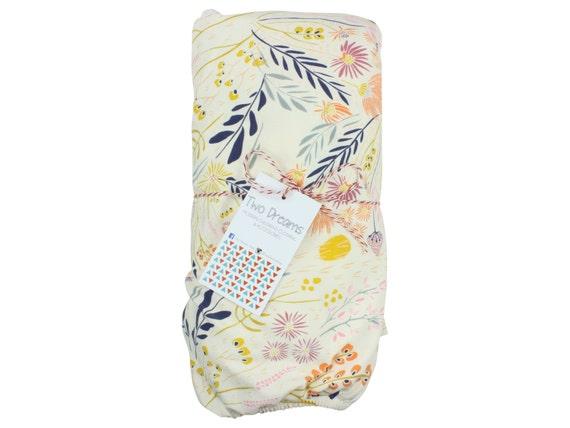 Wild Flower Crib Sheet Jersey Knit Changing Pad Cover Baby Crib Sheet Floral Crib Sheet Wild Flower Contoured Changing Pad Cover