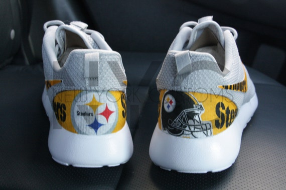 c2b4938fb016 30%OFF Pittsburgh Steelers Nike Roshe Run Grey Custom Men by NYCustoms
