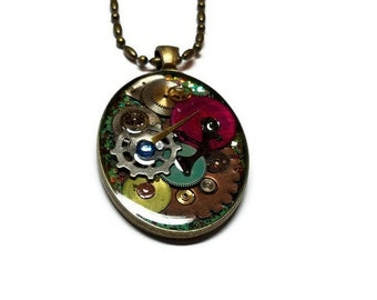 Steampunk Gears and Cogs Necklace