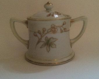 Antique Noritake Porcelain Sugar Bowl