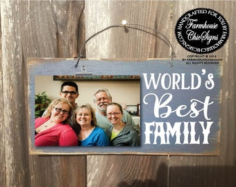 family, gift for family, family gift, world's best family, family picture frame, Christmas gift for family, family sign, family picture,