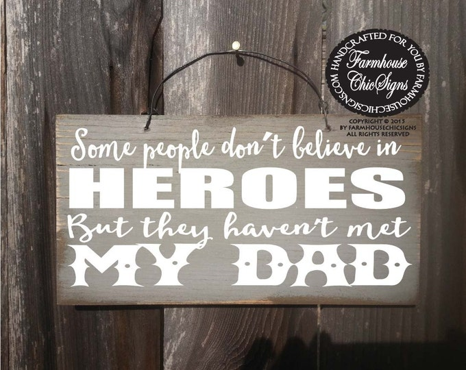 gifts for dad, dad gift, dad birthday, dad birthday gift, father's day gift, dad is my hero sign, daddy gift, daddy sign, daddy gift
