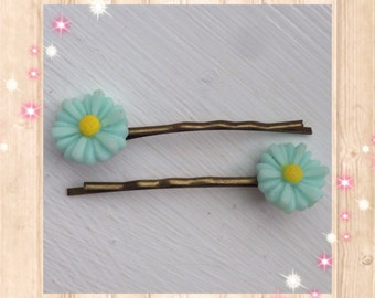 Bobby pins, hair pins, floral hair pins, flower hair pins, floral hair accessories, bobby hair pins, hair accessories, stocking fillers
