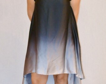 Reverse Ombré Silk Dress