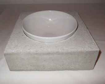 Concrete feeding dish Bowl bar Futterbar nature