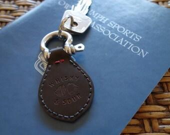 Cordovan keychain
