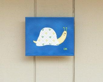 Small Snail #1 Fabric Wall Art