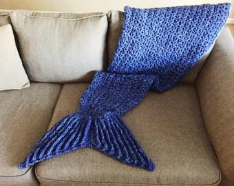 Handmade Mermaid Tail Crochet Blanket